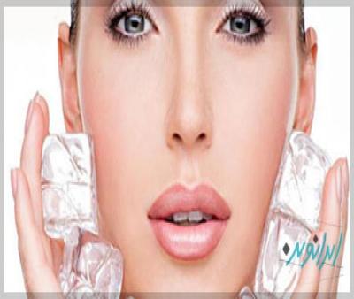 استفاده از یخ برای جوانسازی پوست!